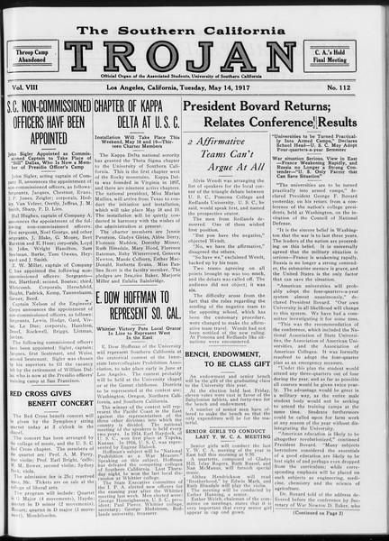 The Southern California Trojan, Vol. 8, No. 112, May 14, 1917