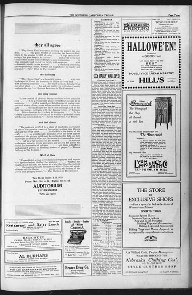 The Southern California Trojan, Vol. 12, No. 18, October 26, 1920