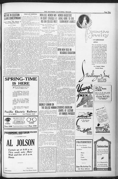 The Southern California Trojan, Vol. 12, No. 75, April 27, 1921