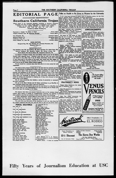 The Southern California Trojan, Vol. 10, No. 10, March 25, 1919