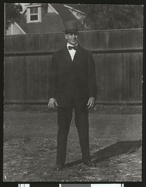 University of Southern California head football coach Dean Cromwell, Bovard Field, USC campus, 1909.