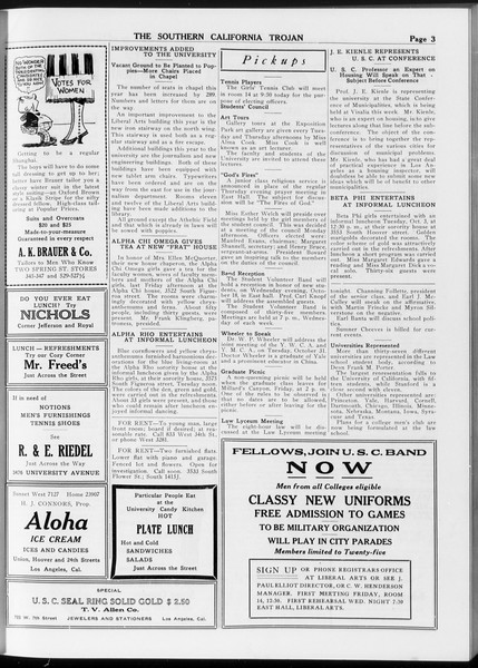 The Southern California Trojan, Vol. 8, No. 15, October 12, 1916