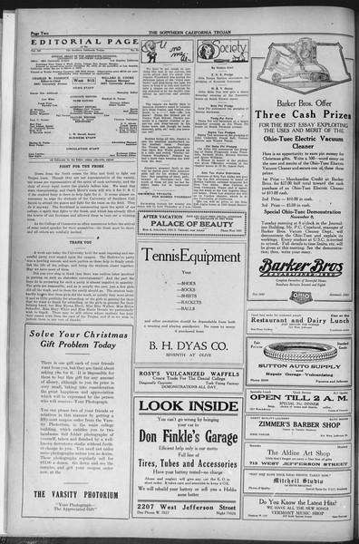 The Southern California Trojan, Vol. 12, No. 24, November 05, 1920