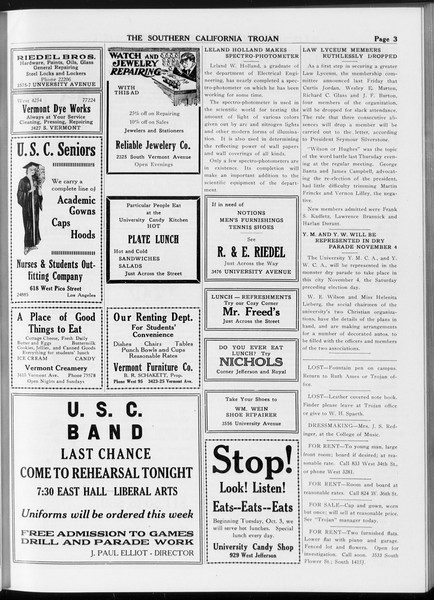 The Southern California Trojan, Vol. 8, No. 19, October 19, 1916