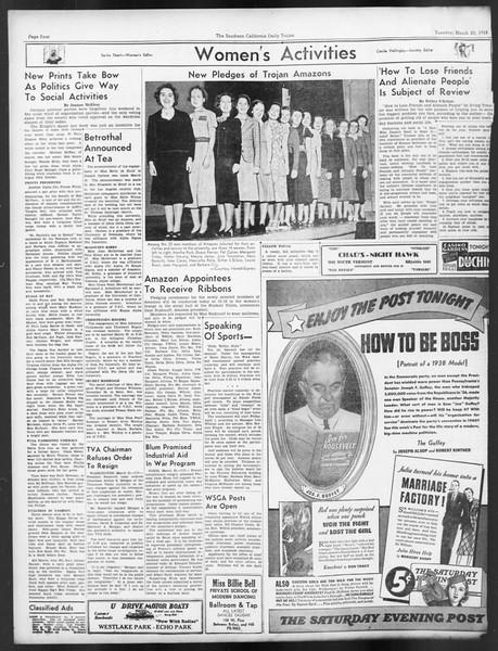 Daily Trojan, Vol. 29, No. 103, March 22, 1938