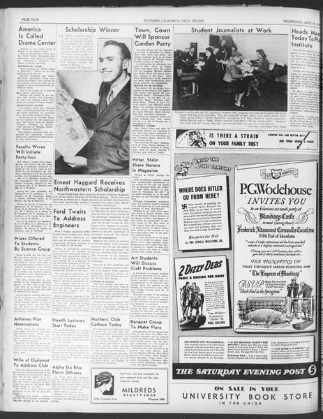Daily Trojan, Vol. 30, No. 118, April 19, 1939
