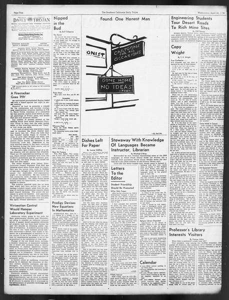 Daily Trojan, Vol. 29, No. 119, April 20, 1938