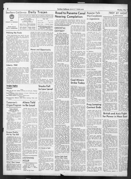 Daily Trojan, Vol. 32, No. 144, May 19, 1941