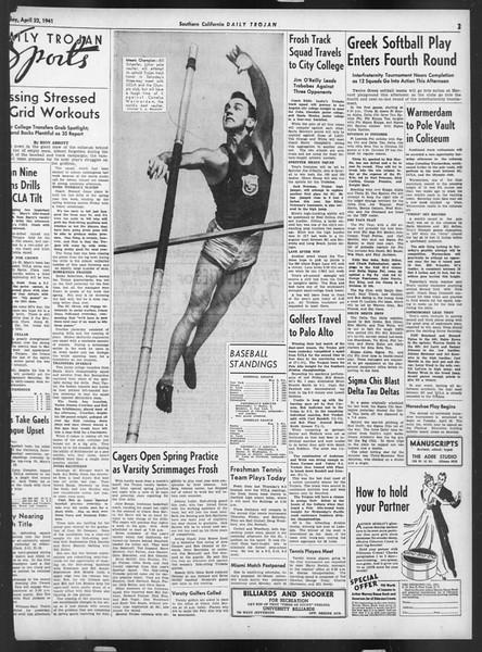 Daily Trojan, Vol. 32, No. 126, April 22, 1941