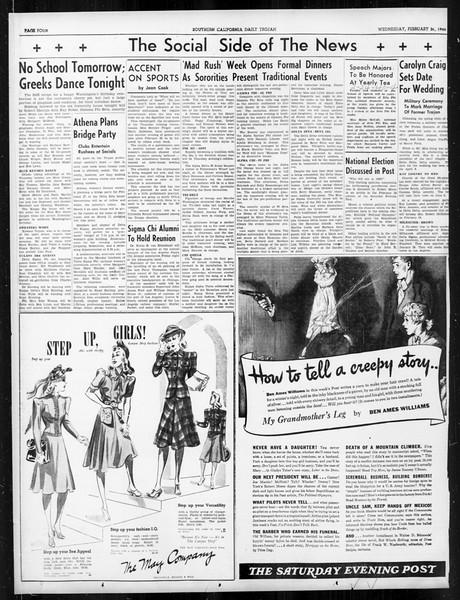 Daily Trojan, Vol. 31, No. 89, February 21, 1940