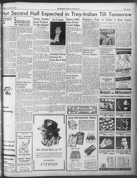 Daily Trojan, Vol. 30, No. 26, October 21, 1938