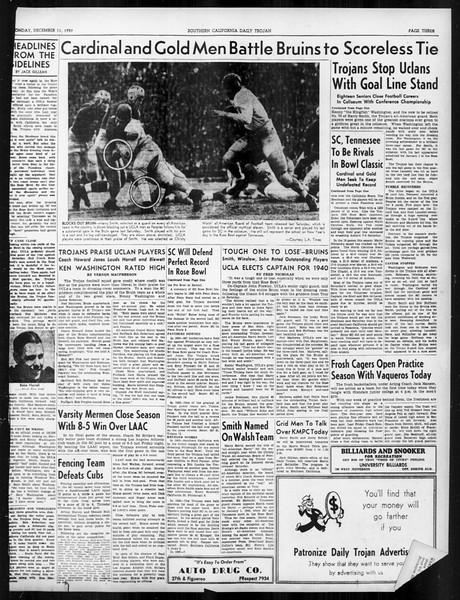 Daily Trojan, Vol. 31, No. 59, December 11, 1939