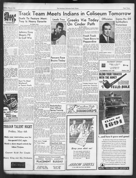 Daily Trojan, Vol. 29, No. 131, May 06, 1938