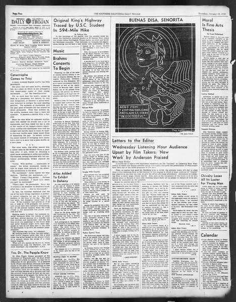 Daily Trojan, Vol. 29, No. 66, January 13, 1938
