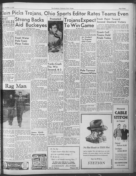 Daily Trojan, Vol. 30, No. 15, October 07, 1938