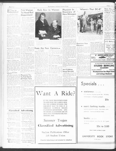Summer Trojan, Vol. 17, No. 4, July 01, 1938