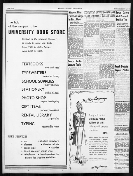 Daily Trojan, Vol. 31, No. 78, February 02, 1940