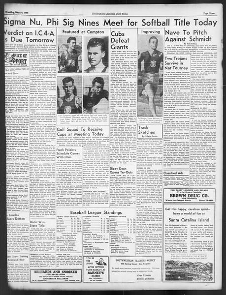 Daily Trojan, Vol. 29, No. 140, May 19, 1938