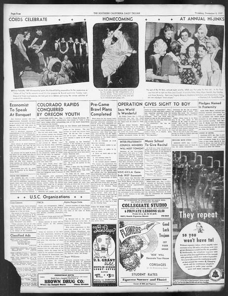 Daily Trojan, Vol. 29, No. 51, December 02, 1937