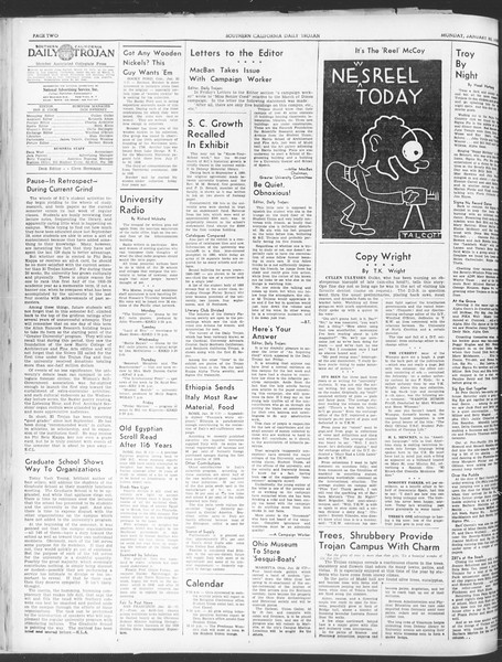 Daily Trojan, Vol. 30, No. 72, January 23, 1939
