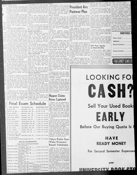 Daily Trojan, Vol. 33, No. 67, December 22, 1941