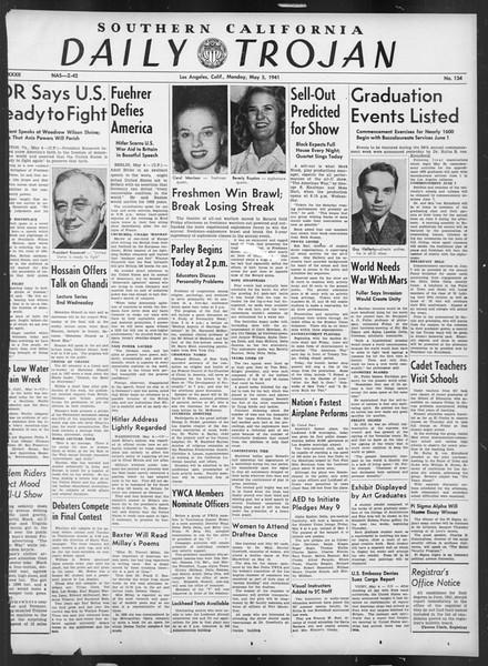 Daily Trojan, Vol. 32, No. 134, May 05, 1941
