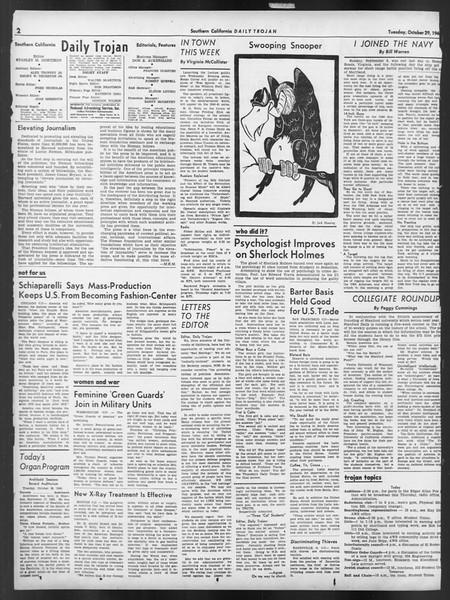 Daily Trojan, Vol. 32, No. 33, October 29, 1940