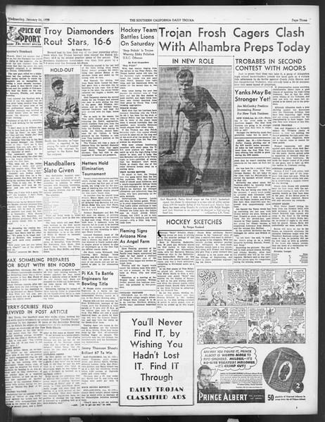 Daily Trojan, Vol. 29, No. 75, January 26, 1938