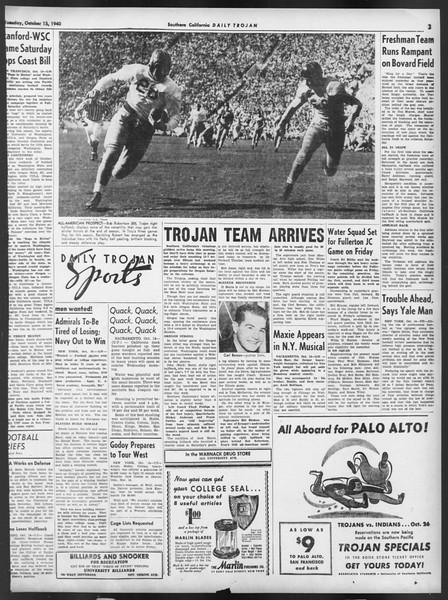 Daily Trojan, Vol. 32, No. 23, October 15, 1940