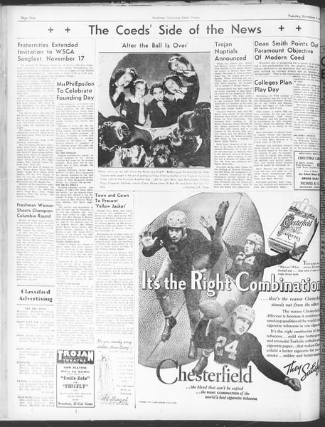 Daily Trojan, Vol. 30, No. 37, November 08, 1938