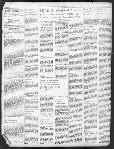 Daily Trojan, Vol. 29, No. 147, May 31, 1938
