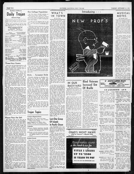 Daily Trojan, Vol. 31, No. 3, September 19, 1939