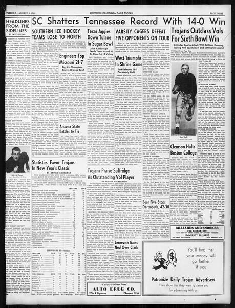 Daily Trojan, Vol. 31, No. 64, January 02, 1940