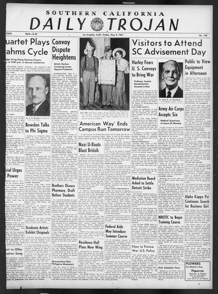 Daily Trojan, Vol. 32, No. 138, May 09, 1941