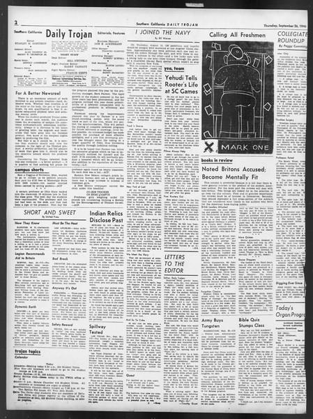 Daily Trojan, Vol. 32, No. 10, September 26, 1940