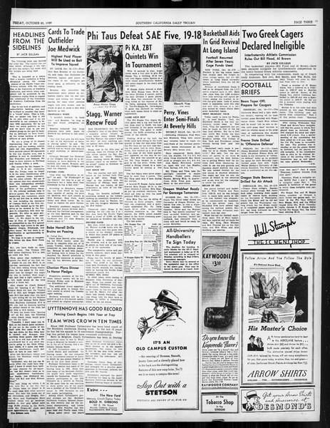 Daily Trojan, Vol. 31, No. 26, October 20, 1939