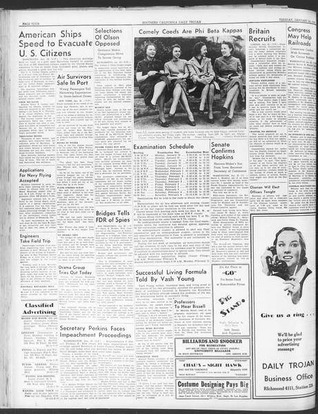 Daily Trojan, Vol. 30, No. 73, January 24, 1939