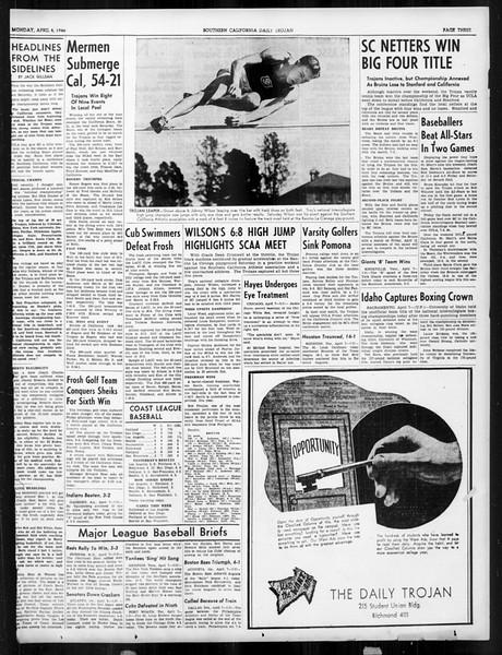 Daily Trojan, Vol. 31, No. 119, April 08, 1940