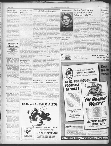 Daily Trojan, Vol. 30, No. 18, October 12, 1938