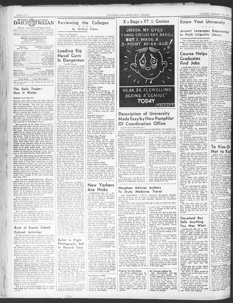 Daily Trojan, Vol. 30, No. 78, February 14, 1939