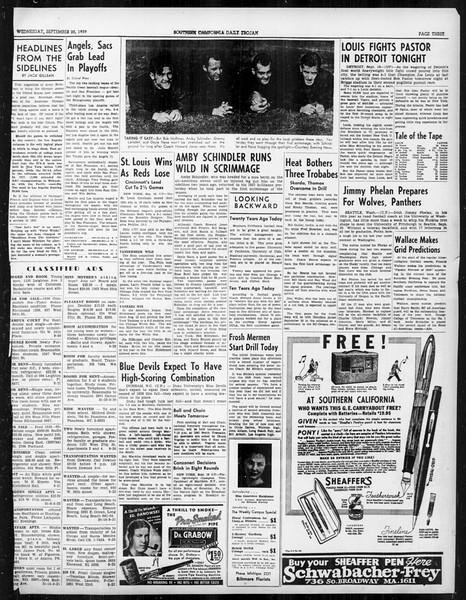 Daily Trojan, Vol. 31, No. 4, September 20, 1939