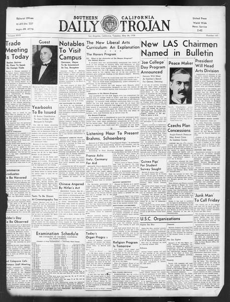 Daily Trojan, Vol. 29, No. 143, May 24, 1938