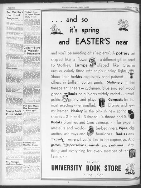 Daily Trojan, Vol. 30, No. 105A, March 25, 1939