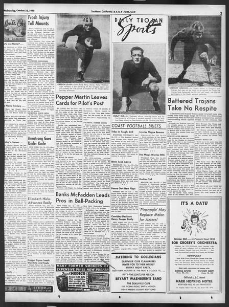Daily Trojan, Vol. 32, No. 24, October 16, 1940
