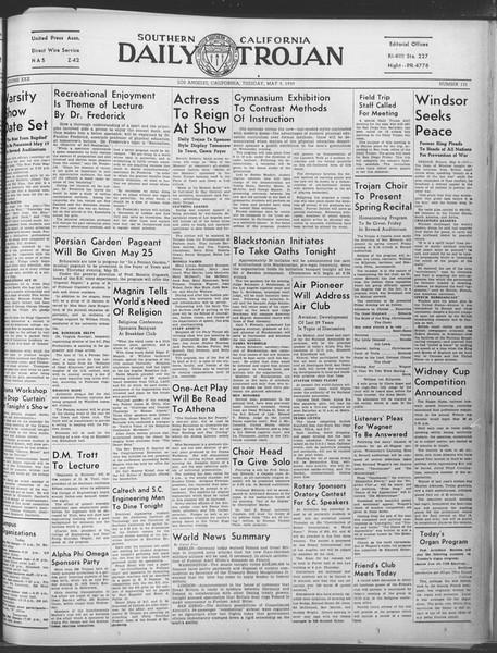 Daily Trojan, Vol. 30, No. 132, May 09, 1939