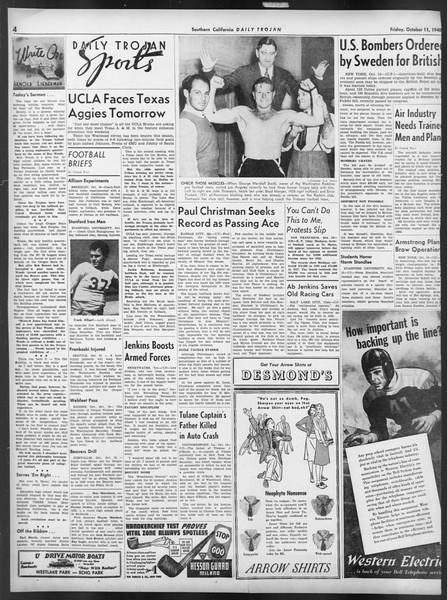 Daily Trojan, Vol. 32, No. 21, October 11, 1940