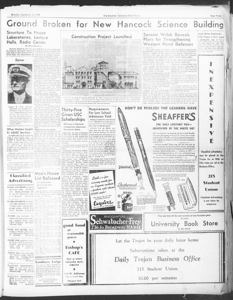 Daily Trojan, Vol. 30, No. 2, September 19, 1938