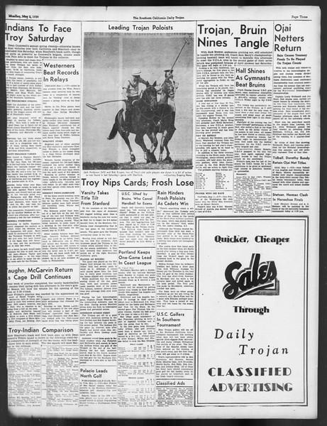Daily Trojan, Vol. 29, No. 127, May 02, 1938