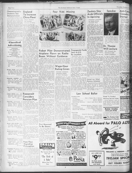 Daily Trojan, Vol. 30, No. 20, October 13, 1938
