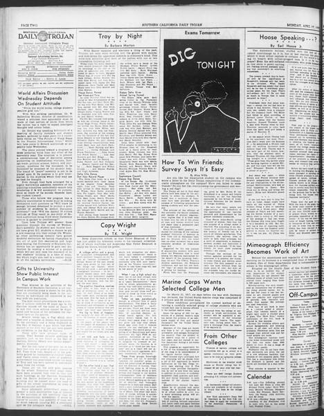 Daily Trojan, Vol. 30, No. 116, April 17, 1939